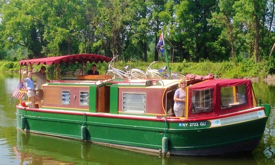 Erie Canal Boat Rental - 34' Canal Boat