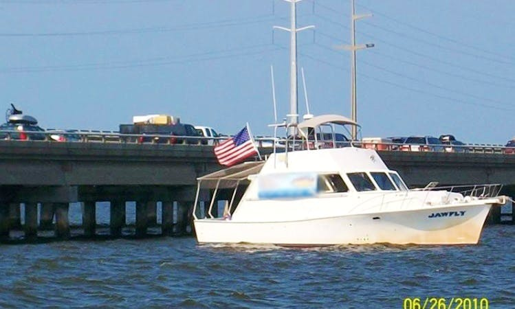 """Enjoy """"Jawfly"""" 45ft Boat Fishing Charter in Albemarle Sound"""