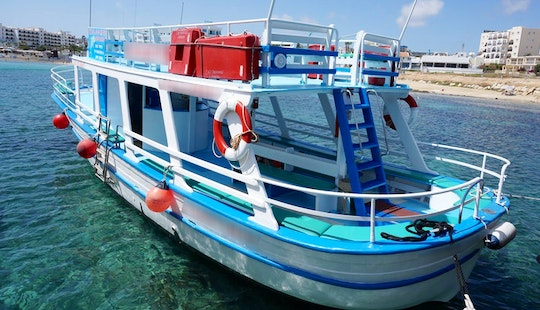 49' Traditional Boat Cruising Around The Sea Of Famagusta