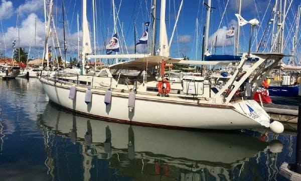 Cruising 53 ft Luxury Sailing Yacht in Chesapeake Bay.
