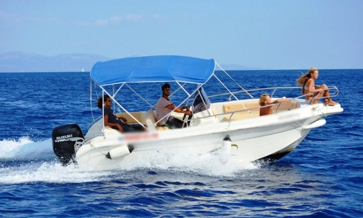 Vittoria Matu 19 Speed boat rental in Loggos, Paxos, Greece
