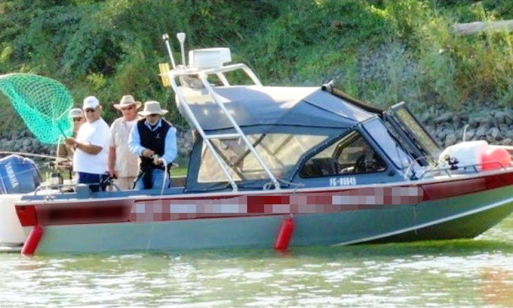 Rancho Cordova Fishing Charter on 21ft North River Seahawk Boat