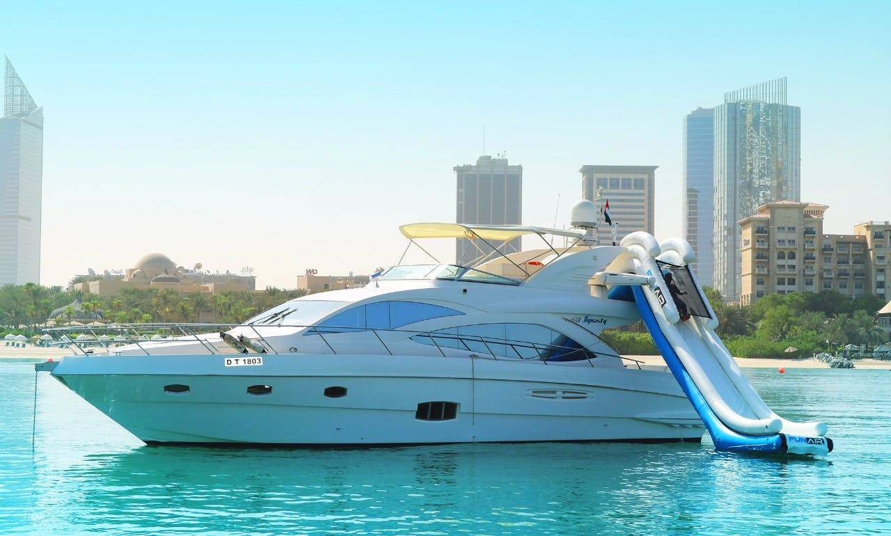 Private Luxury Yacht Charter with Water Slide in Dubai, UAE