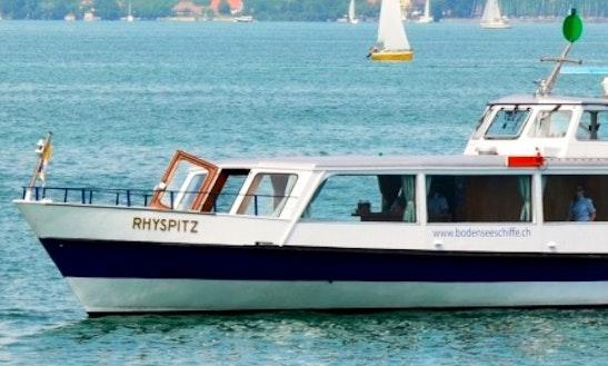 Charter 88' Ms Rhyspitz Passenger Boat In Romanshorn, Switzerland