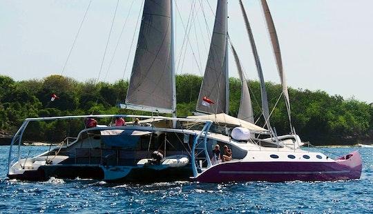 Charter 80' Msy Anee Cha Cruising Catamaran In Denpasar Barat, Indonesia