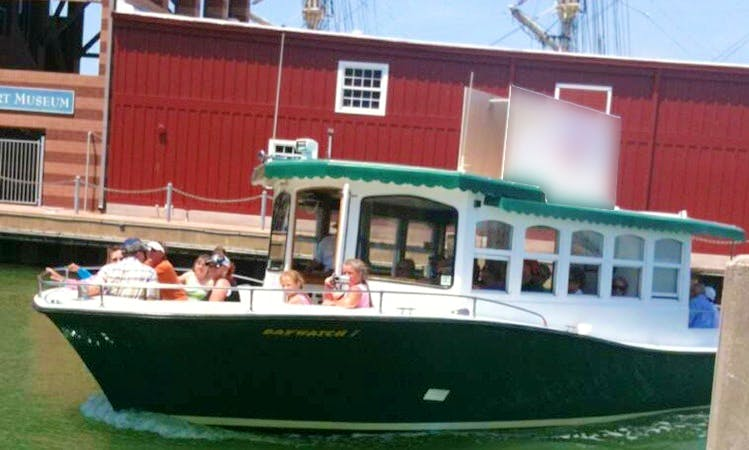 """Private Dolphin Tours On 34 feet """"BayWatch I"""" Boat In Galveston, Texas"""