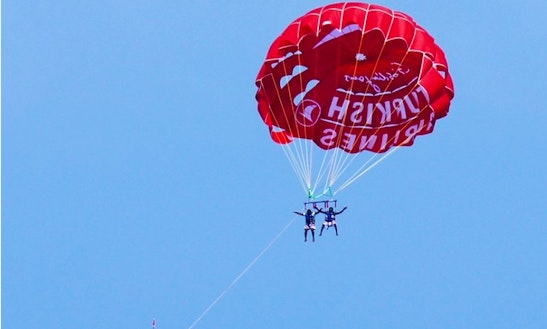 Enjoy Parasailing In Antalya, Turkey For 2 Pax