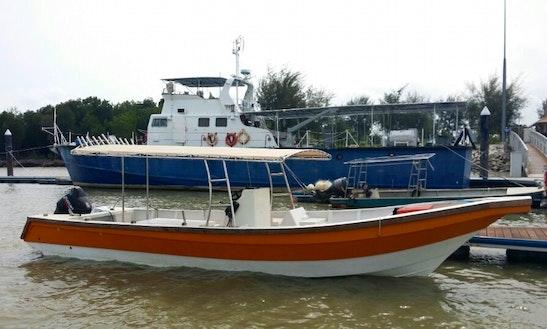 Enjoy Fishing In Pelabuhan Klang, Malaysia On Center Console