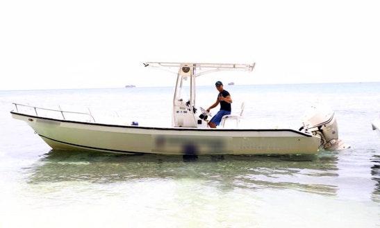 Enjoy Fishing On 25' Isabella Marine Panga Boat In Utila, Honduras