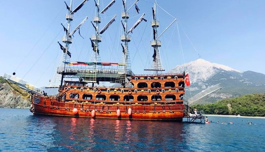 Enjoy Cruising In Antalya, Turkey On 98' Pirate Ship