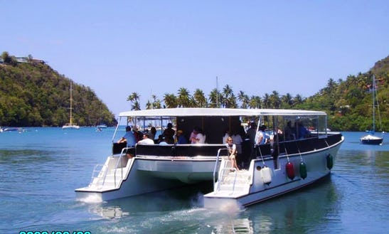 Power Catamaran Charter In Soucis, Saint Lucia
