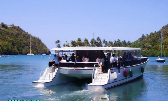 Power Catamaran Charter In Soucis, Saint Lucia