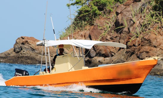 Enjoy Fishing In Guanacaste,costa Rica On 29' Happy Ending Center Console