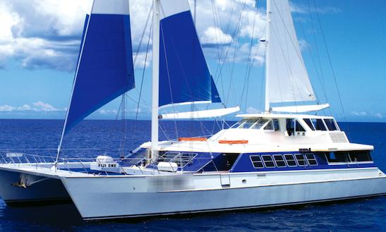 Charter 98' Cruising Catamaran At Denarau Island, Fiji