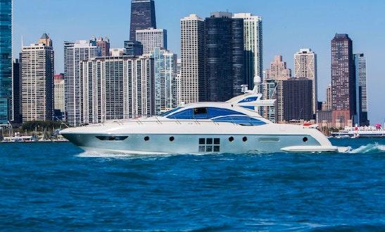 Charter 62' Azimut Italia Luxury Yacht In Chicago, Illinois