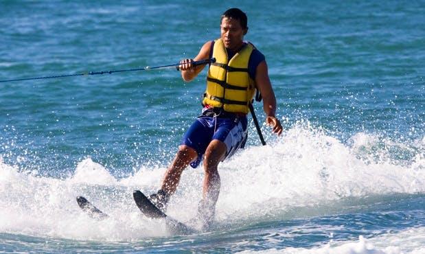 Get towed behind a boat and learn Water Skiing in Kuta Selatan, Bali