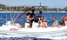 Rent 21' Selva Rigid Inflatable Boat in Saint-Gilles les Bains, Reunion