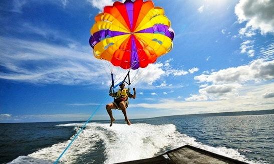 Enjoy Parasailing In Denpasar Selatan, Bali