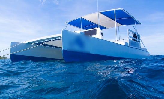 30' Power Catamaran Snorkel Trips In Carriacou, Grenada