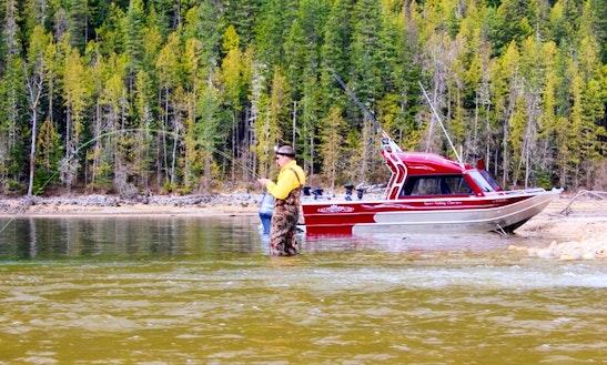 Enjoy Fishing On 22' Thunderjet Chinook Boat In West Kelowna, Canada