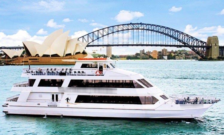 Party Venue for 350 Guests on M.V. Vagabond Spirit on Sydney Harbour