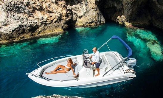 19' Allegra Open Bowrider Rental In Gargnano, Italy