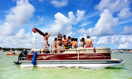24' Pontoon Rental In North Miami Beach, Florida