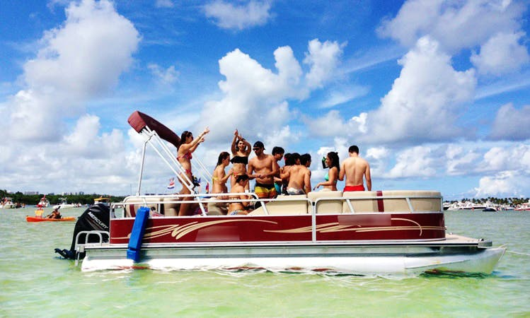 24' Pontoon Rental In North Miami Beach, Florida