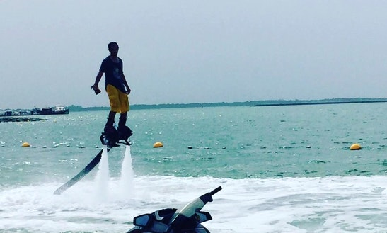Enjoy Flyboarding In Abu Dhabi, United Arab Emirates