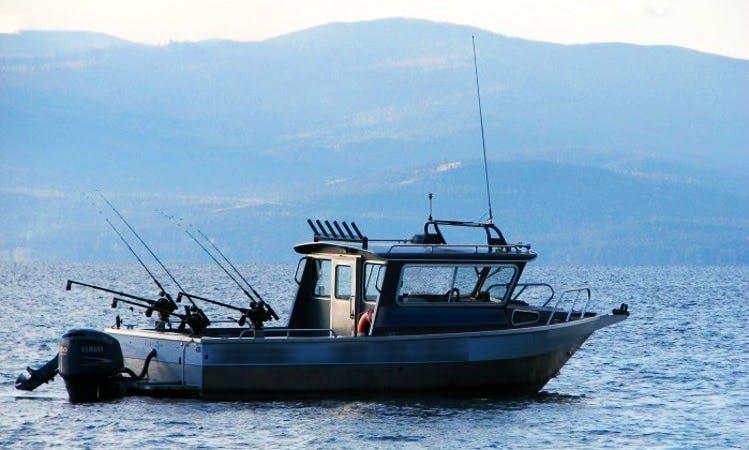24' Head Boat Charter in Bigfork, Montana