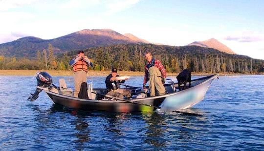 Drift Boat Fishing Trip In Soldotna, Alaska