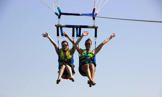 Enjoy Parasailing And Fly Fish In Ras Al-khaimah, United Arab Emirates