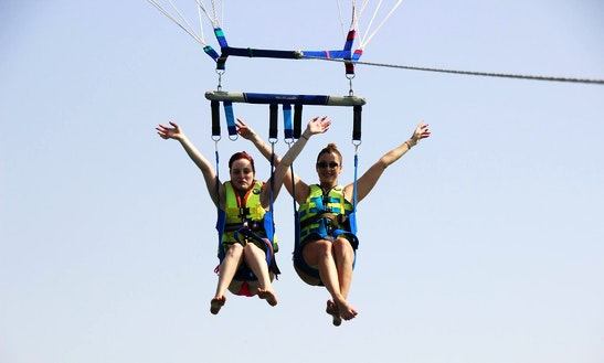 Enjoy Parasailing And Fly Fish In Ras Al-khaimah, United Arab Emirates