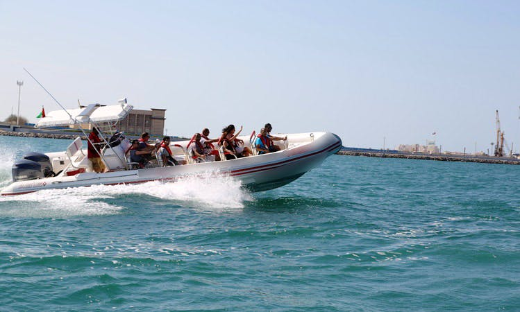 Enjoy Dubai, United Arab Emirates On 35' RIB