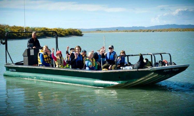 Boat Tour in Franz Josef Glacier in New Zealand