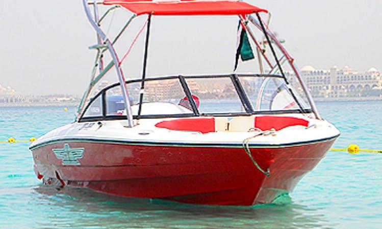 Boat Cruise Around the Arabian Gulf Aboard a Stunning Red Bowrider