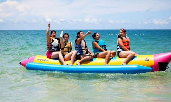 Enjoy Banana Boat In Tanjung Benoa