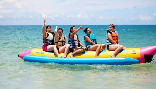 Enjoy Banana Boat In Tanjung Benoa, Bali