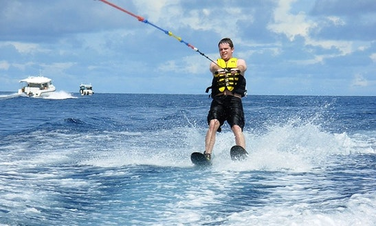 Enjoy Waterskiing In Maafushi, Maldives