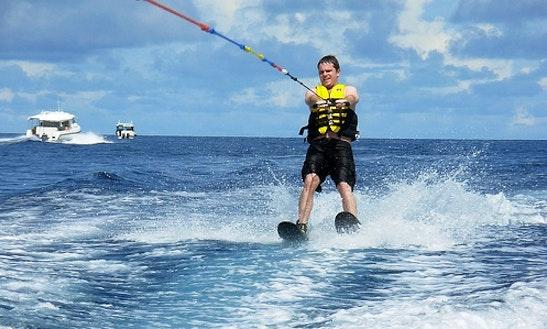 Enjoy Waterskiing In Maafushi, Maldives