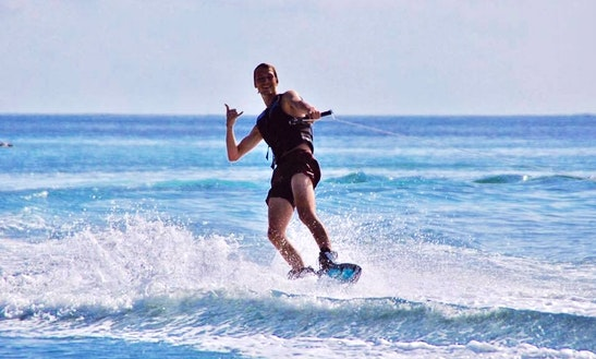 Enjoy Wakeboarding In Maafushi, Maldives