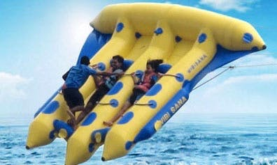 Exciting banana boat rides in Ko Samui, Thailand