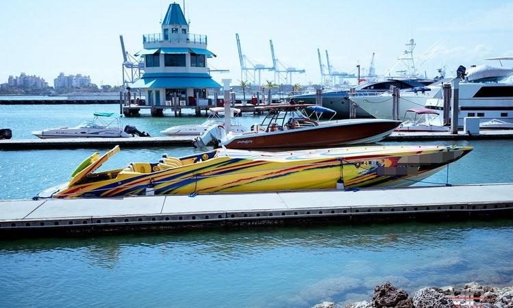 42 Cigarette Tiger Speed Boat Rental In Miami Beach
