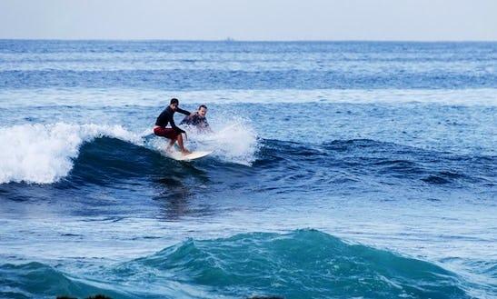 Enjoy Surf Lessons In Gulhi, Maldives