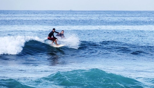 Enjoy Surf Lessons In Gulhi, Maldives