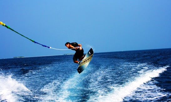 Enjoy Wakeboarding In Gulhi, Maldives