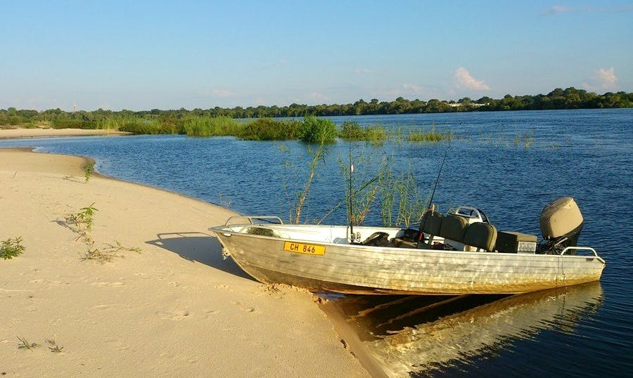 Enjoy Fishing in Katima Mulilo, Namibia on Jon Boat