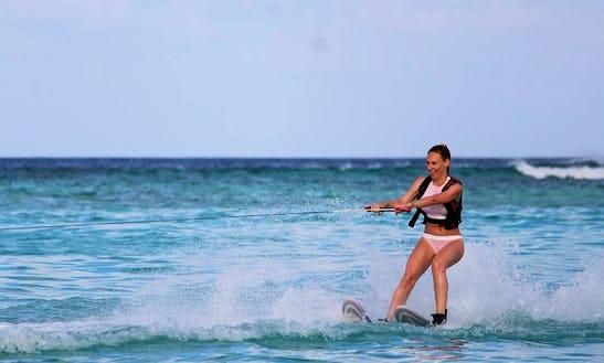 Enjoy Waterskiing In Gulhi, Maldives