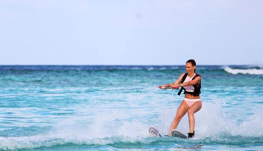Enjoy Waterskiing In Gulhi, Maldives