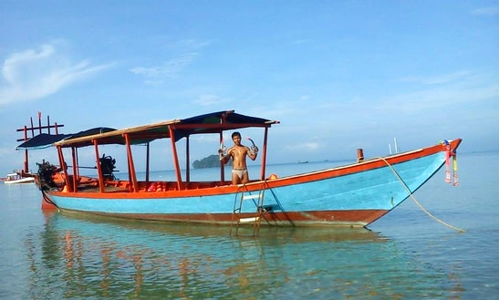 Catch Fish In Sihanoukville, Cambodia On A Traditional Boat